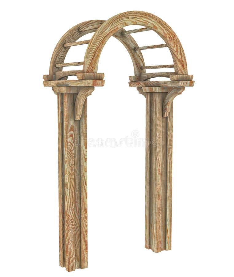 木曲拱3d 皇族释放例证