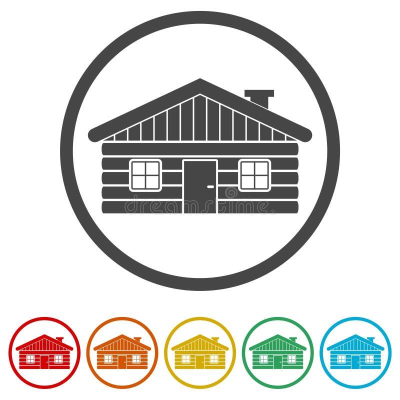 木木屋象传染媒介例证,包括的6种颜色 皇族释放例证