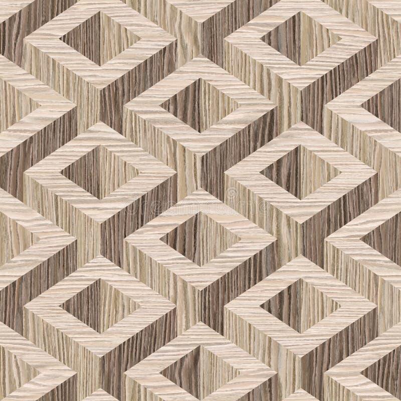 木木条地板装饰-无缝的背景-被炸开的橡木 皇族释放例证