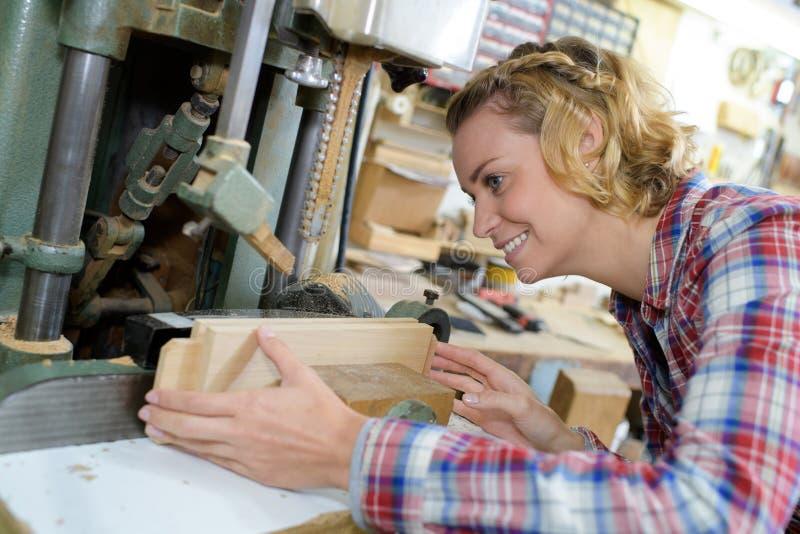 木机器操作员 图库摄影