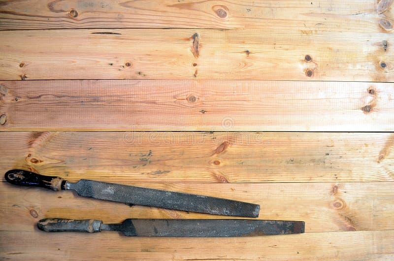 木材加工工具-手文件 库存照片