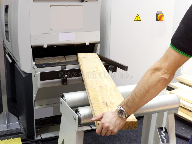 木材加工工厂 库存图片
