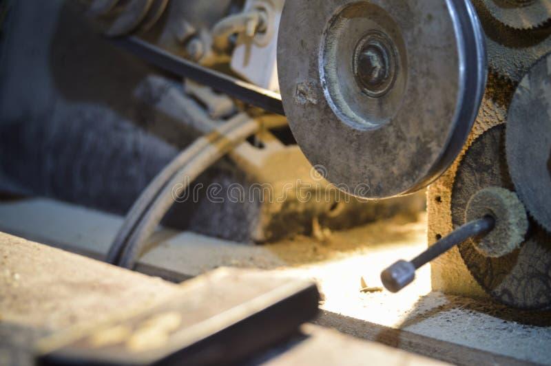 木材加工机器 免版税库存图片