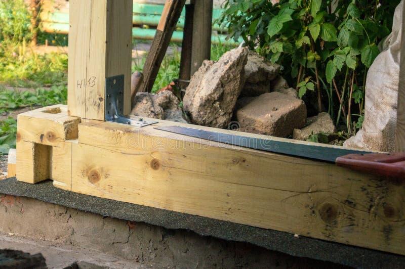 木材和锯 免版税图库摄影