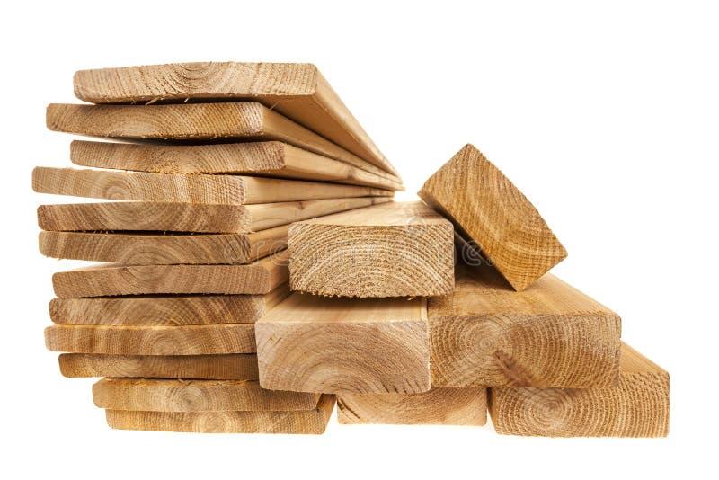 木材板条和板 免版税库存照片