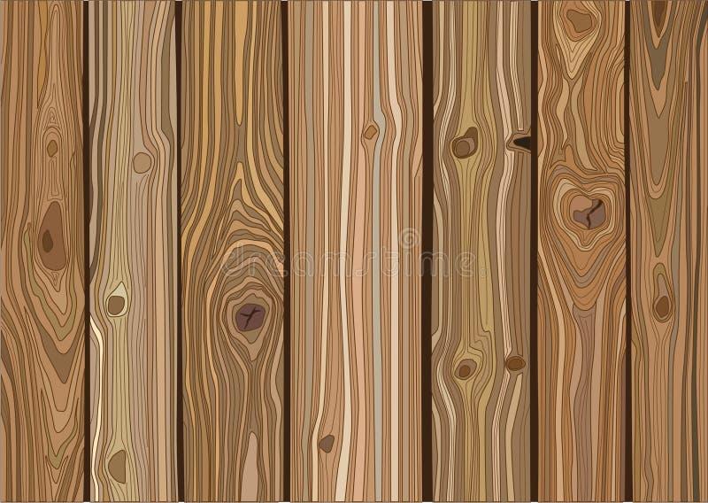 木材纹理背景插图矢量 库存例证