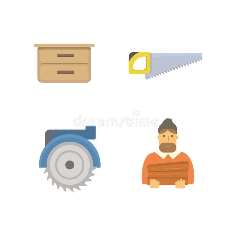 木材象传染媒介例证 库存例证