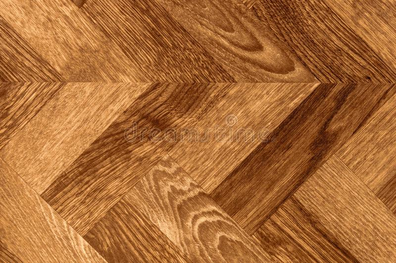 木条地板人字形V形臂章木头背景地板纹理 免版税图库摄影