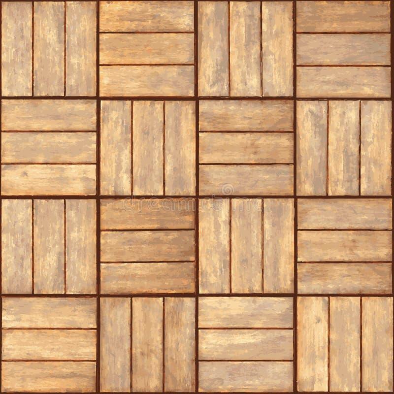 木条地板可实现的无缝的纹理向量 皇族释放例证