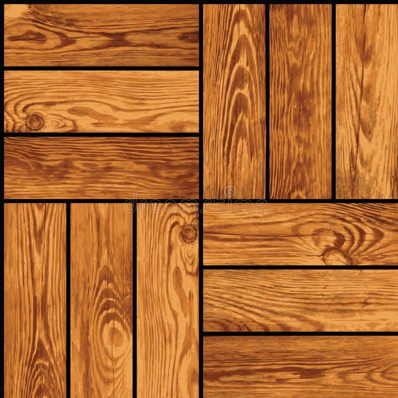 木条地板无缝的纹理向量 库存例证