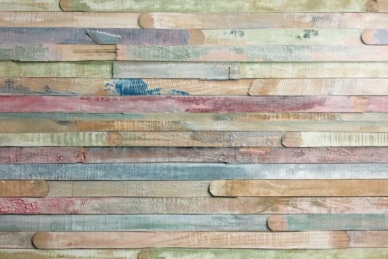 木条地板木纹理,五颜六色的木地板背景 图库摄影