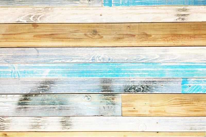 木条地板木纹理,五颜六色的木地板背景 库存照片
