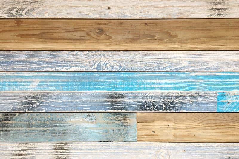 木条地板木纹理,五颜六色的木地板背景 免版税库存照片