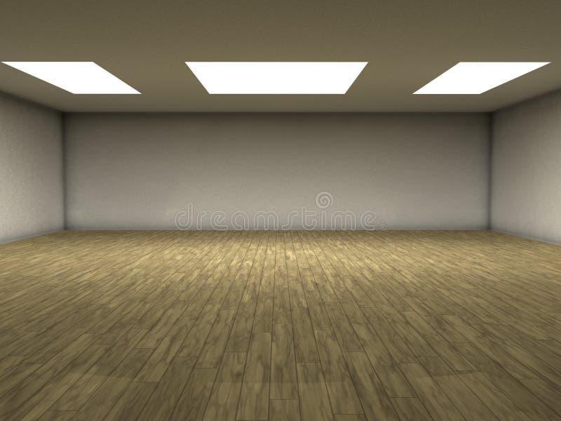 木条地板空间 库存例证