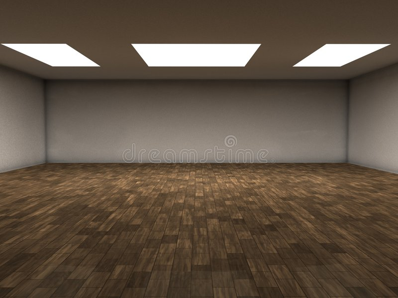 木条地板空间 皇族释放例证