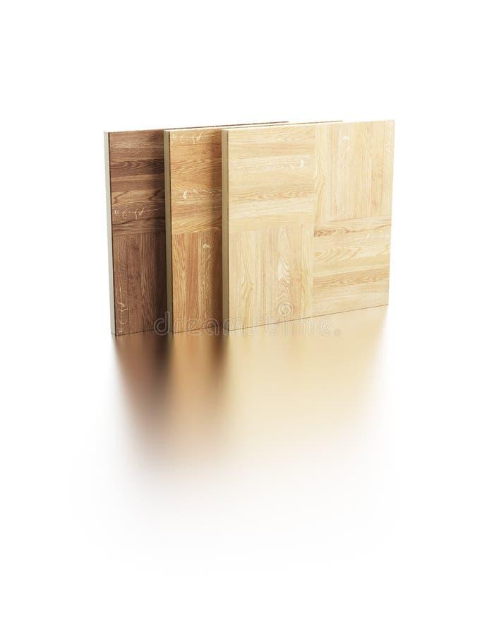 木条地板范例 库存例证