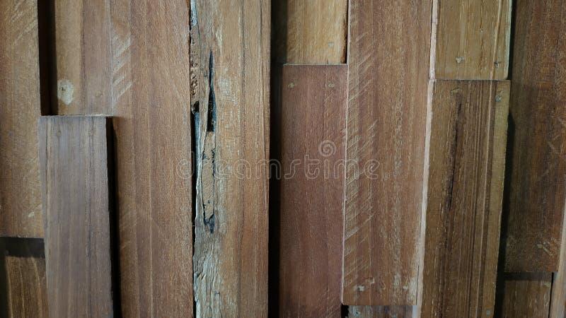 木条地板褐色背景和纹理 免版税库存图片