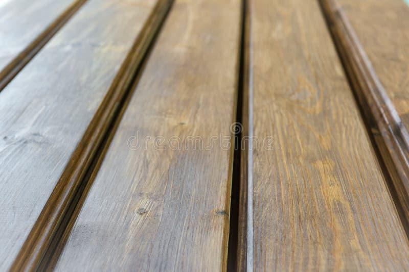 木板条地板 与自然样式的美好的木纹理 免版税库存照片