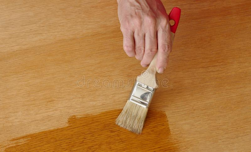 木板条涂清漆 库存图片
