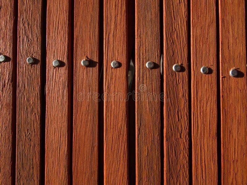 木板条的表面敲头 图库摄影