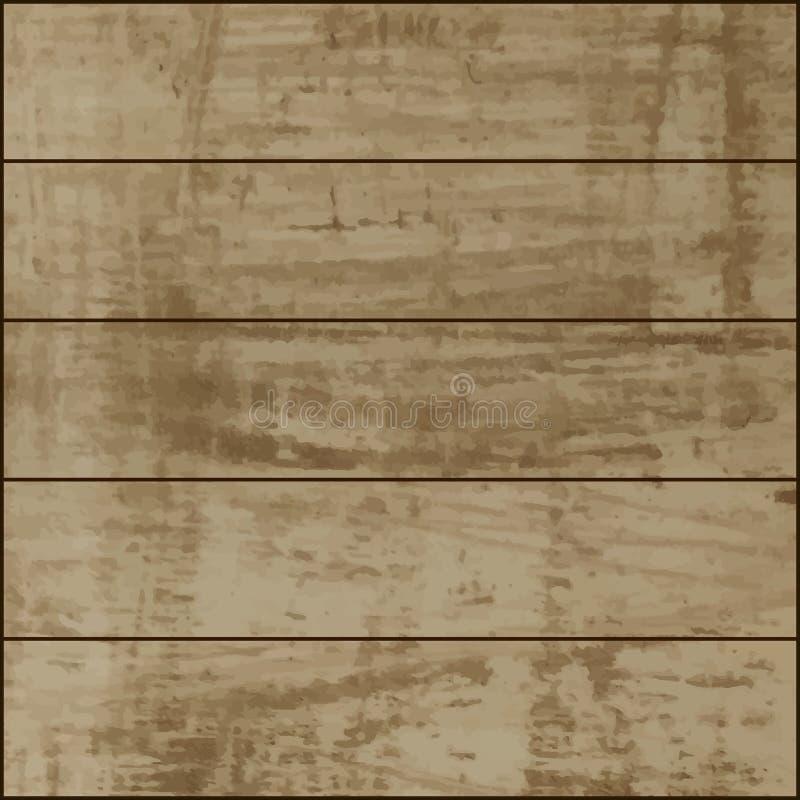 木板条背景纹理 向量例证