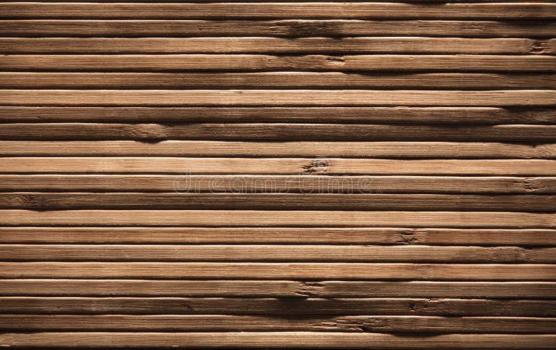木板条背景,布朗木纹理,竹板条墙壁 免版税库存图片