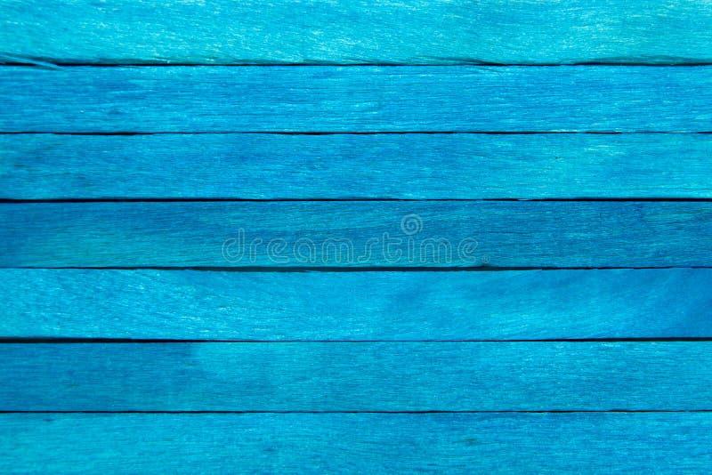 木板条蓝色背景 库存图片