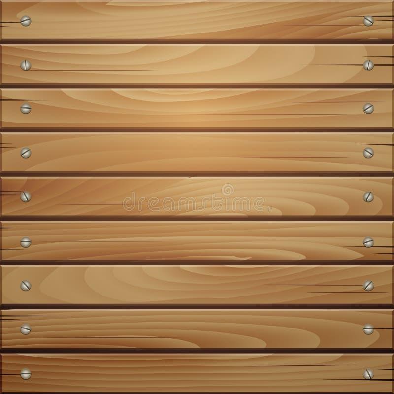 木板条褐色纹理背景 皇族释放例证