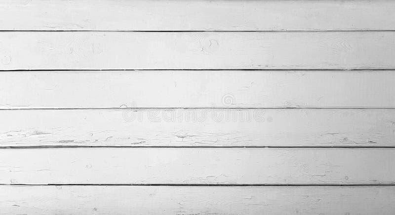 木板条黑白纹理  免版税库存照片