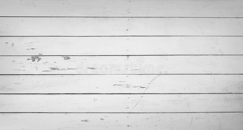 木板条黑白纹理  免版税库存图片