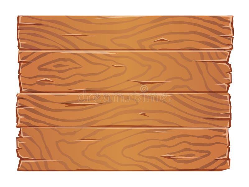 木板纹理clipart 肩并肩老木板条 平的传染媒介例证 背景查出的白色 向量例证