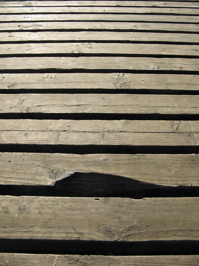 木板走道漏洞结 免版税库存图片