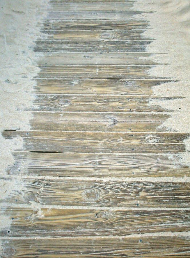 木板走道路径 库存照片