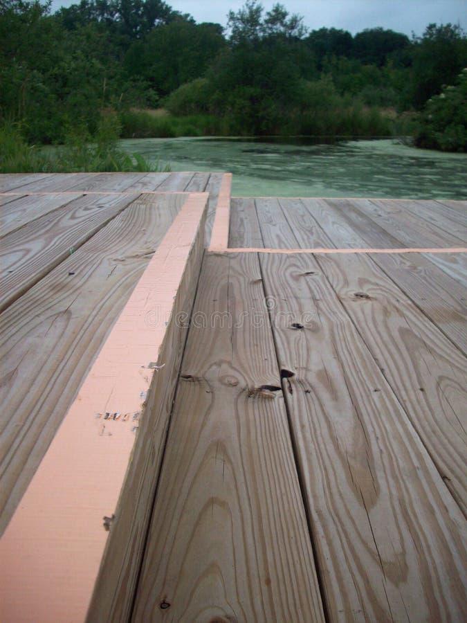 木板走道通过沼泽地 库存照片