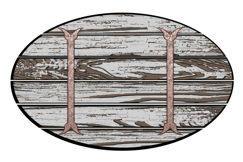 Download 木板 向量例证. 插画 包括有 没人, 生锈, 钞票, 框架, 对象, 过帐, 链子, 的biscayne - 59101263