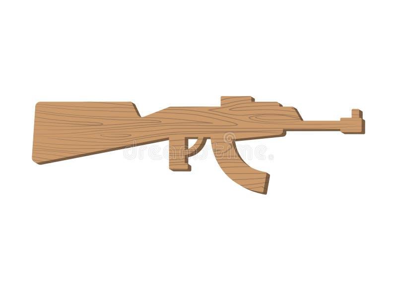 木枪孩子 委员会武器 儿童的军用玩具 库存例证