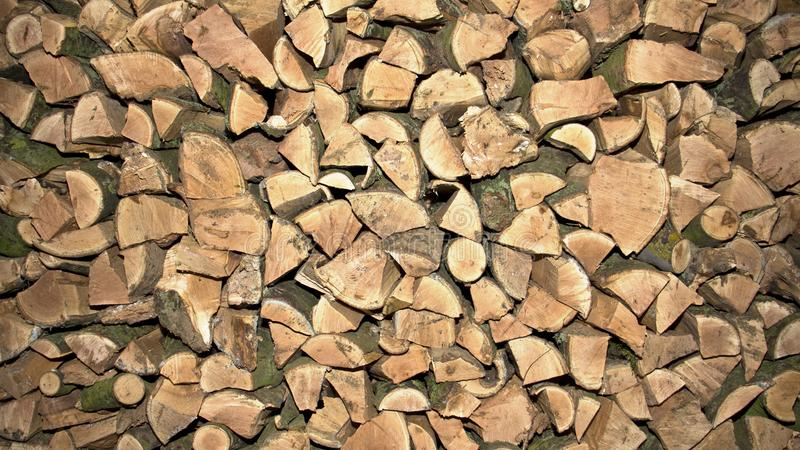 木柴被堆高,英国 免版税库存照片