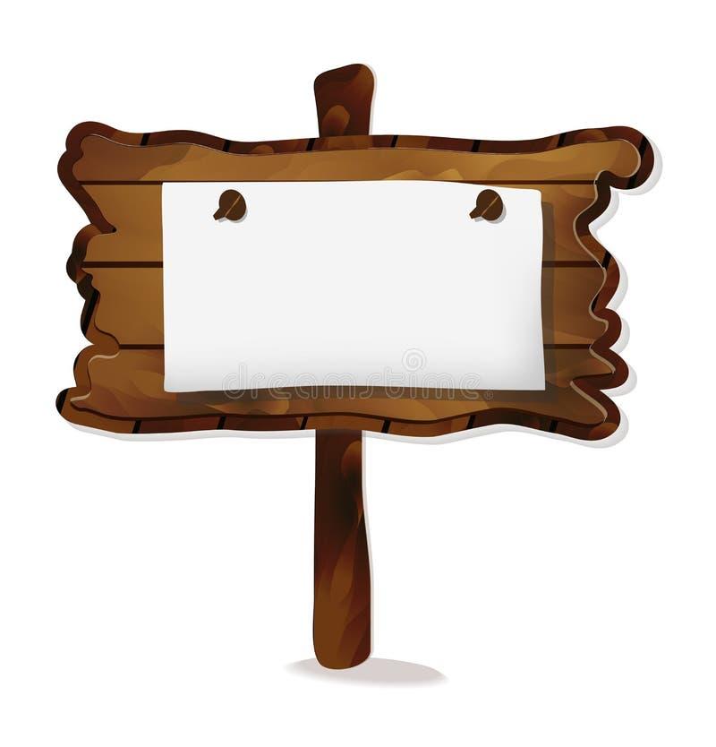木标志,题字的标志从文本 传染媒介点 库存例证