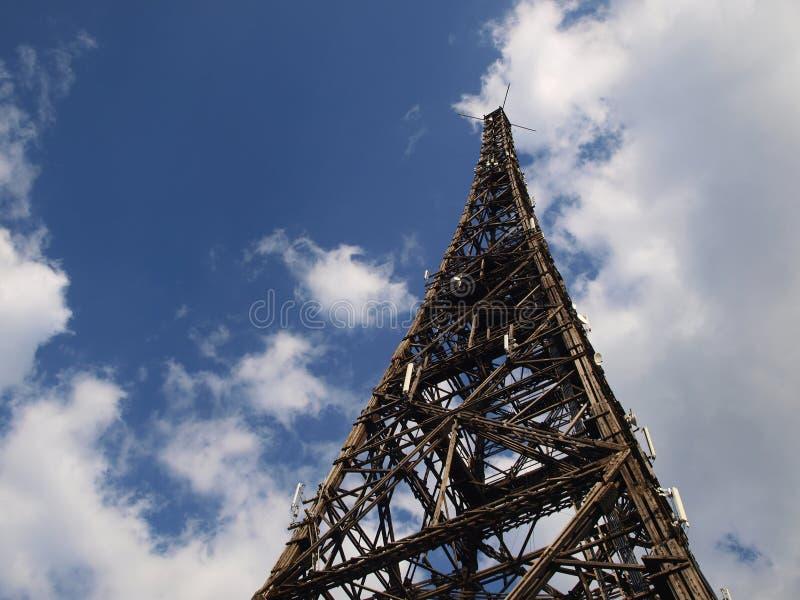 木格利维采老的无线电铁塔 免版税库存图片