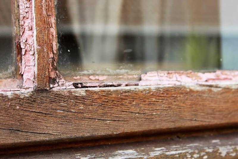 木框架家庭维护维修服务的视窗 库存照片