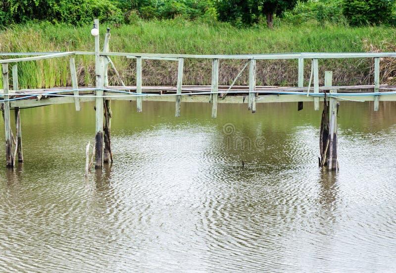 木桥 库存图片