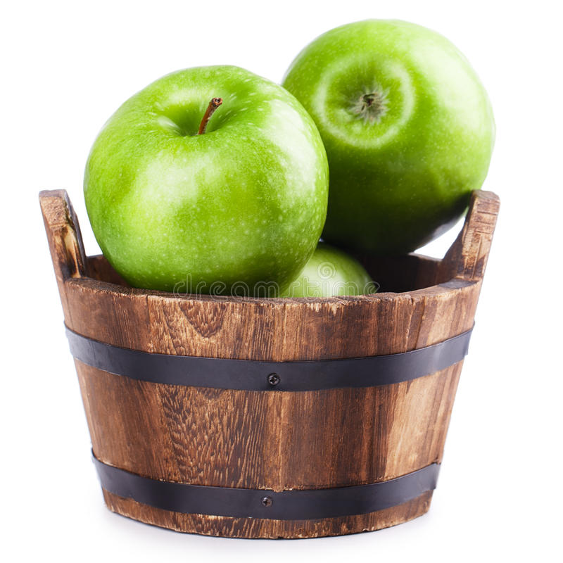 木桶苹果 免版税库存图片