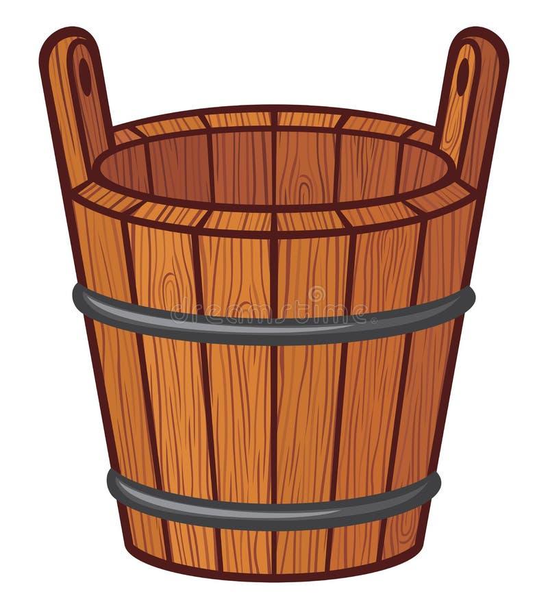 木桶 皇族释放例证