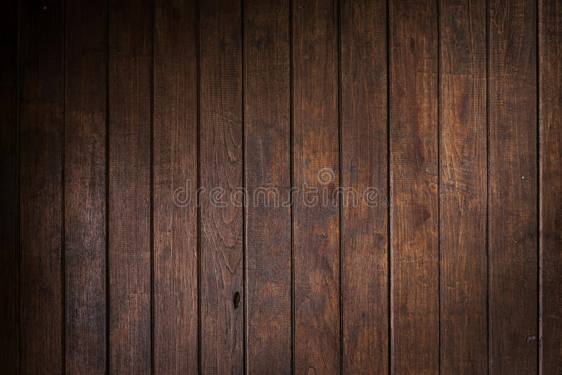 木棕色墙壁板条背景 库存图片