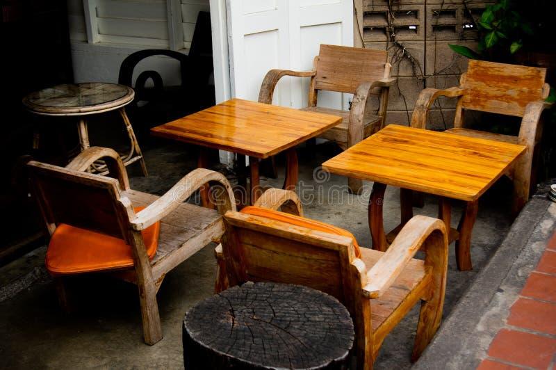 木棕色家具 库存图片