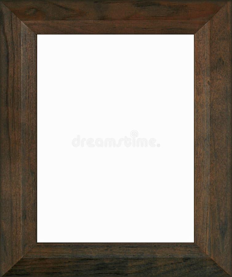 木棕色的框架 库存照片