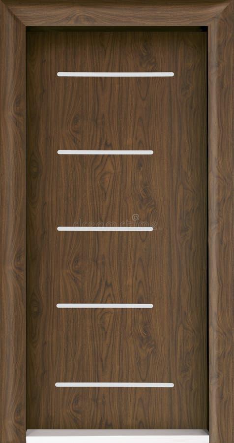 木棕色的门 免版税库存图片