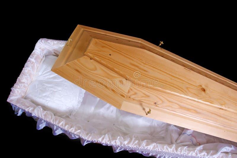 木棺材 库存照片