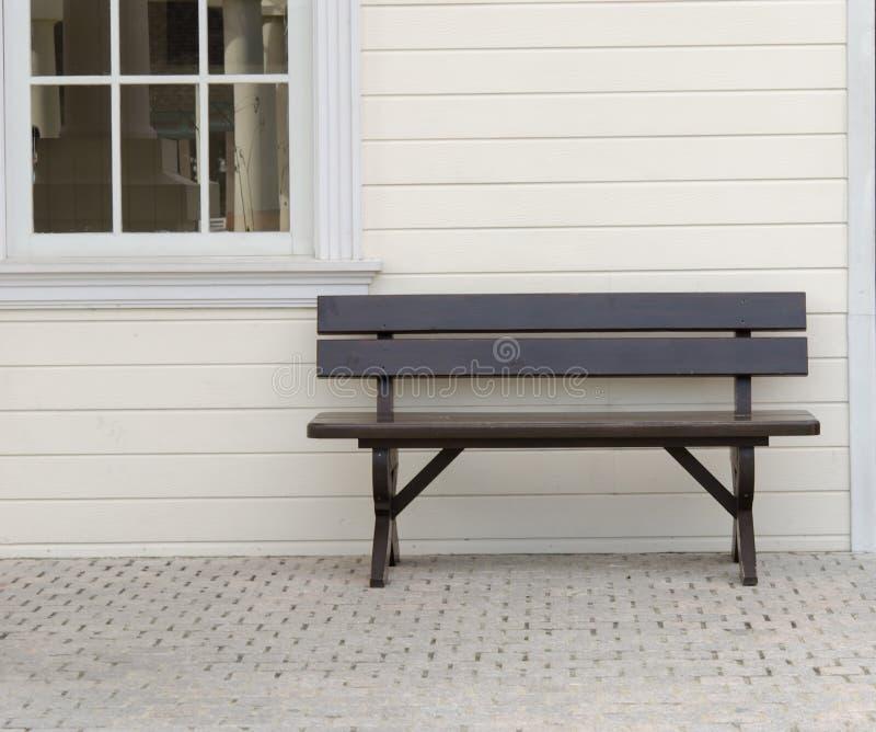 木椅子。 库存图片