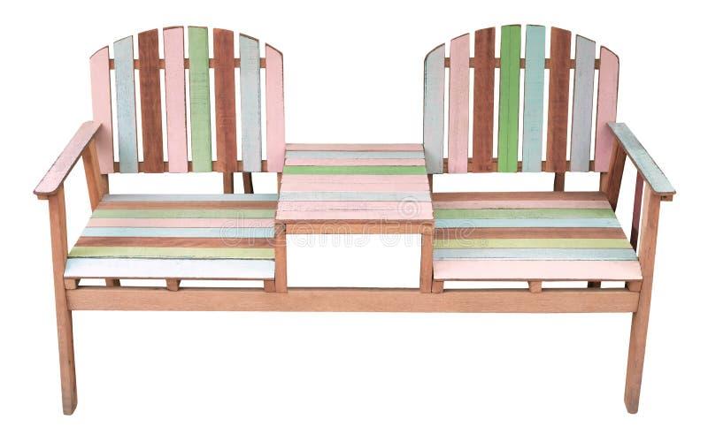 木椅子查出的白色 库存照片